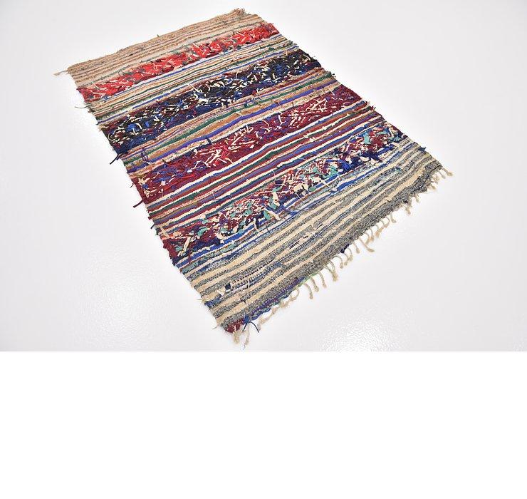 3' 5 x 5' Moroccan Rug