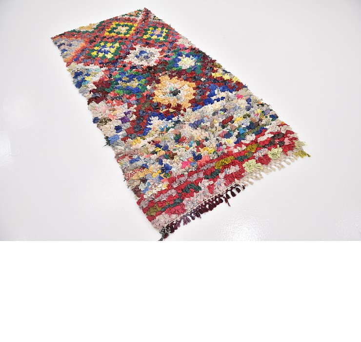 HandKnotted 3' 6 x 7' 3 Moroccan Runner Rug