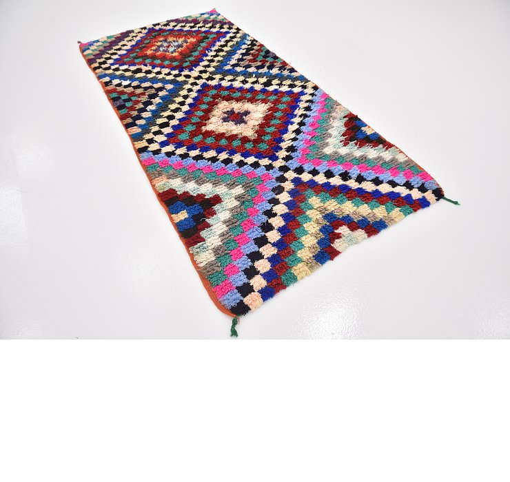 4' x 8' 2 Moroccan Runner Rug