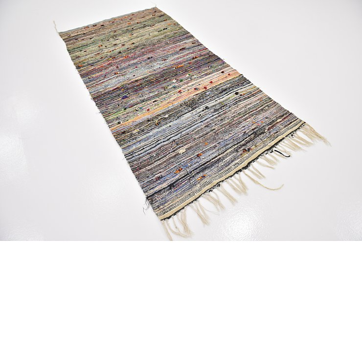 3' 9 x 7' 6 Moroccan Runner Rug