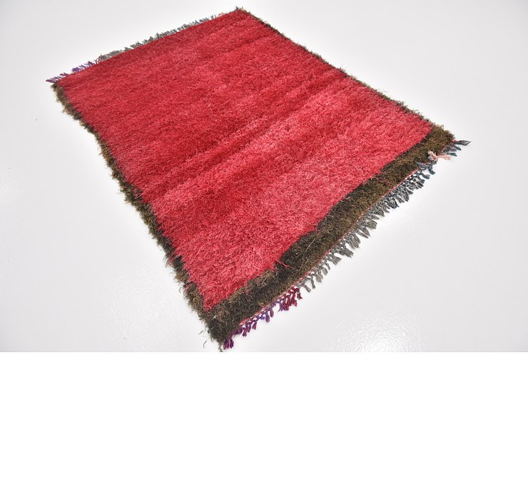 HandKnotted 4' x 5' 4 Moroccan Rug
