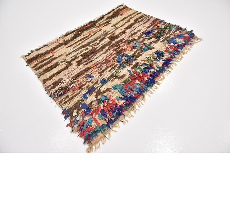 HandKnotted 4' x 5' 8 Moroccan Rug
