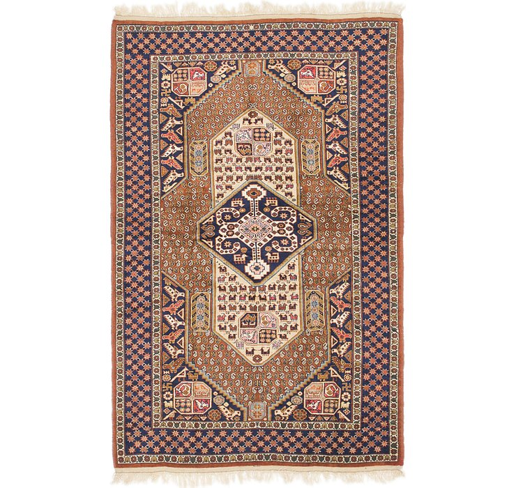 4' 4 x 6' 5 Ghoochan Persian Rug