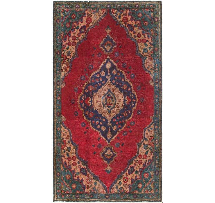 4' 5 x 8' Tabriz Persian Runner Rug