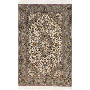 4' 6 x 7' Kashan Persian Rug