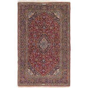 4' 6 x 7' 5 Kashan Persian Rug