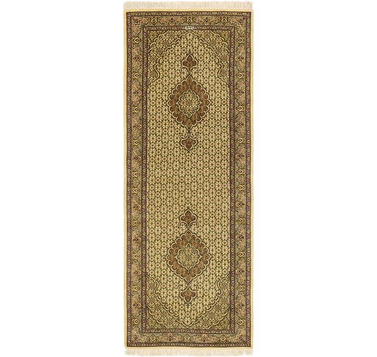 3' x 8' Tabriz Persian Runner Rug