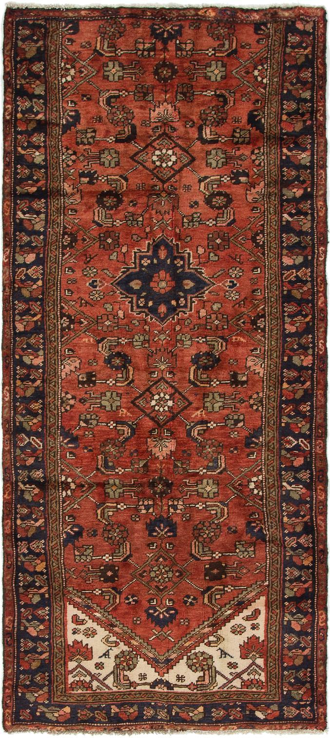 Red 3 3 X 7 7 Khamseh Persian Runner Rug Persian Rugs