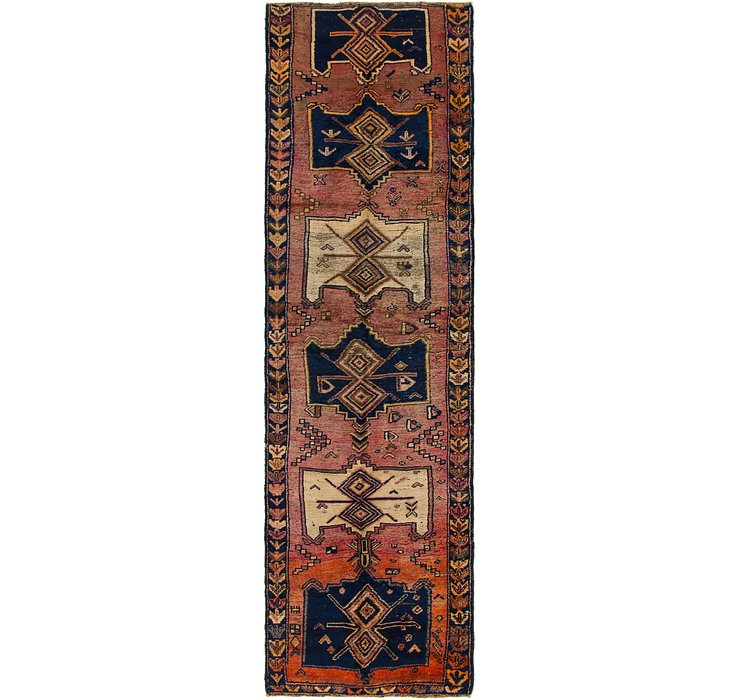 110cm x 385cm Shiraz Persian Runner Rug