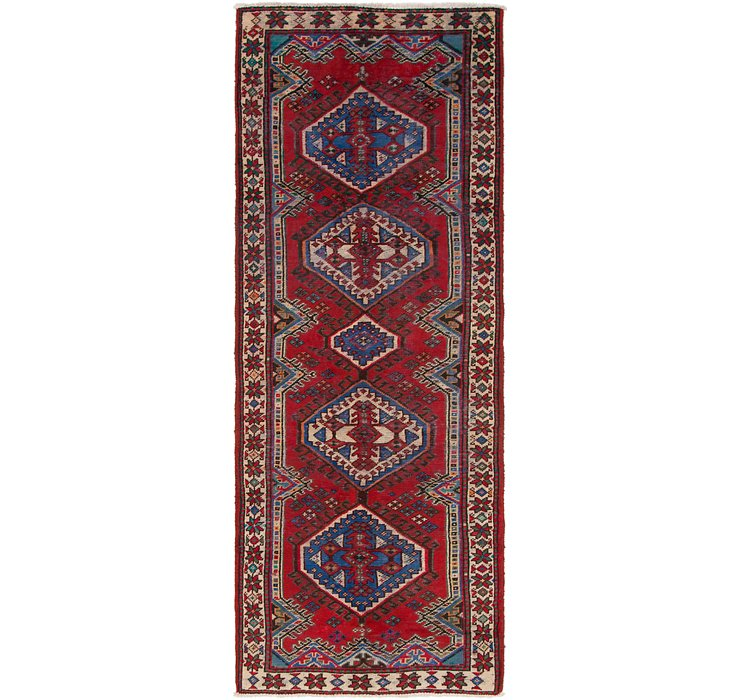 3' 4 x 9' 5 Shiraz Persian Runner Rug