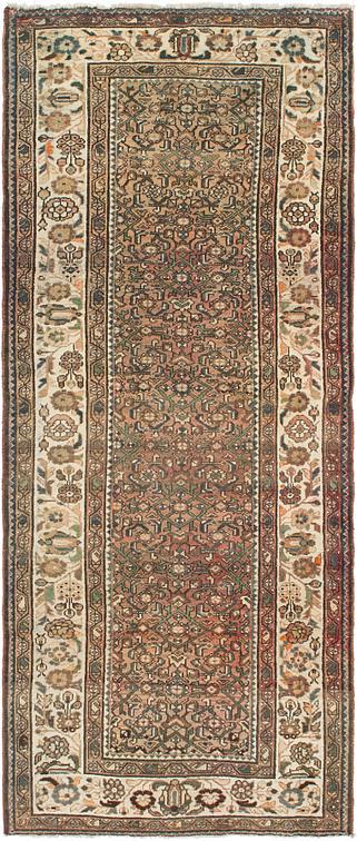 Peach 4 3 X 10 4 Hossainabad Persian Runner Rug