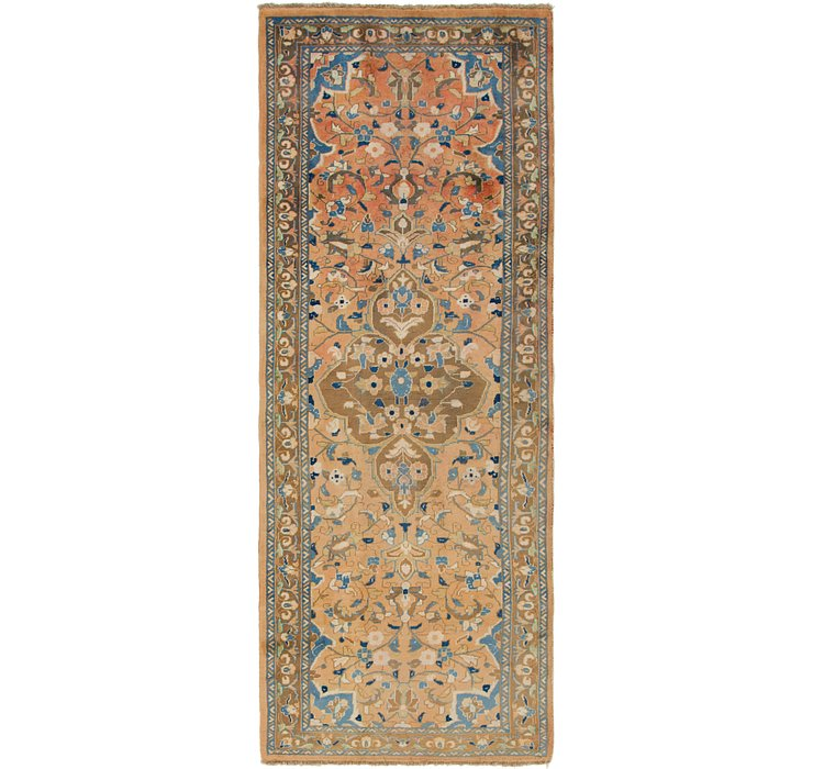 HandKnotted 3' 9 x 10' Mahal Persian Runner Rug