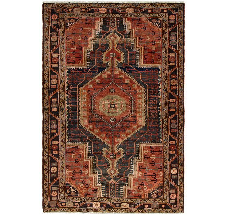 4' 5 x 6' 8 Tuiserkan Persian Rug