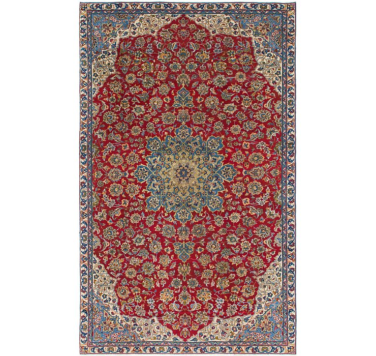 6' 9 x 11' Isfahan Persian Rug