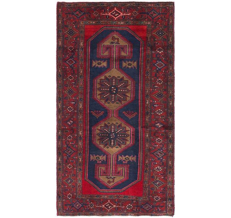 4' 4 x 8' Zanjan Persian Runner Rug