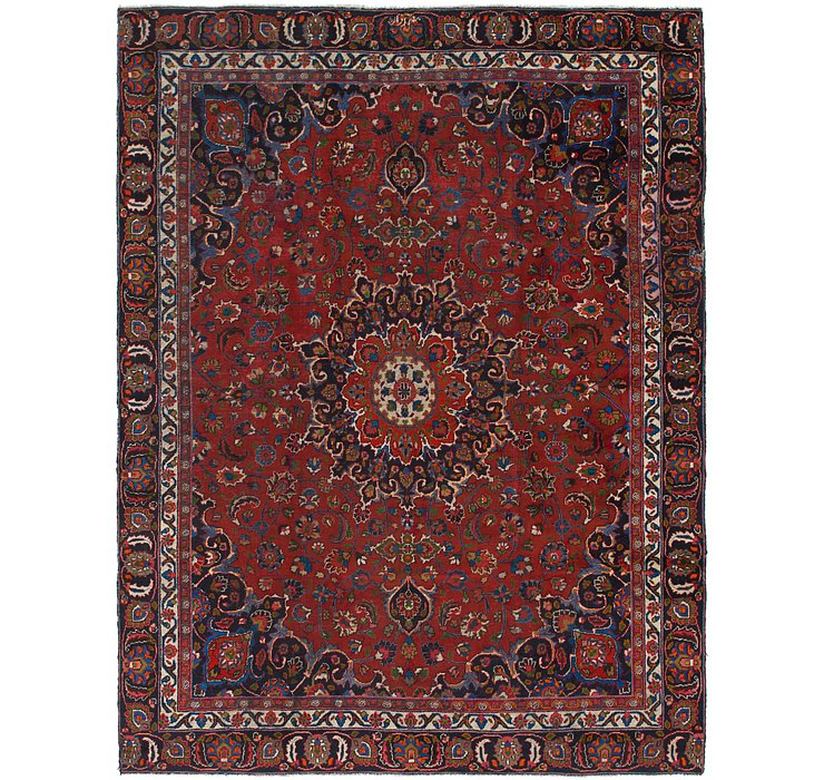 9' x 11' 10 Mashad Persian Rug