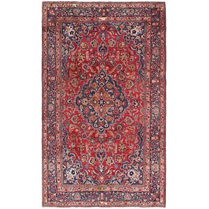 HandKnotted 6' 2 x 10' 7 Mashad Persian Rug