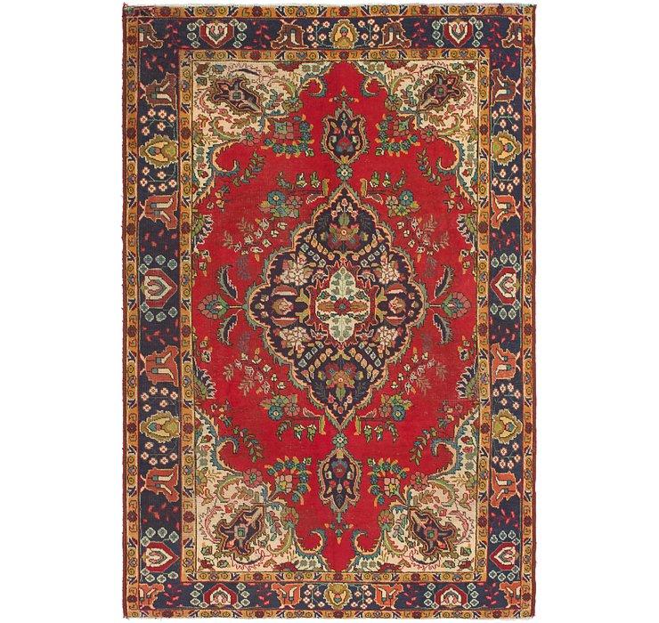 6' 4 x 9' 10 Tabriz Persian Rug