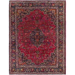 HandKnotted 9' 9 x 12' 9 Mashad Persian Rug