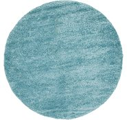 Link to 10' x 10' 2 Solid Shag Round Rug