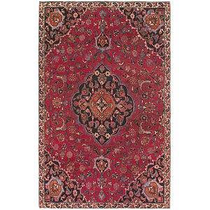 Link to 6' 3 x 9' 9 Mashad Persian Rug item page
