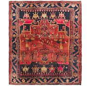Link to 5' x 5' 7 Zanjan Persian Square Rug