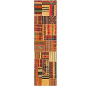 Link to 2' 8 x 10' 3 Kilim patchwork Runner Rug