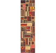 Link to 2' 10 x 10' 6 Kilim patchwork Runner Rug