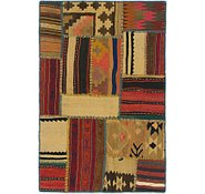 Link to 2' 9 x 4' 2 Kilim Patchwork Rug