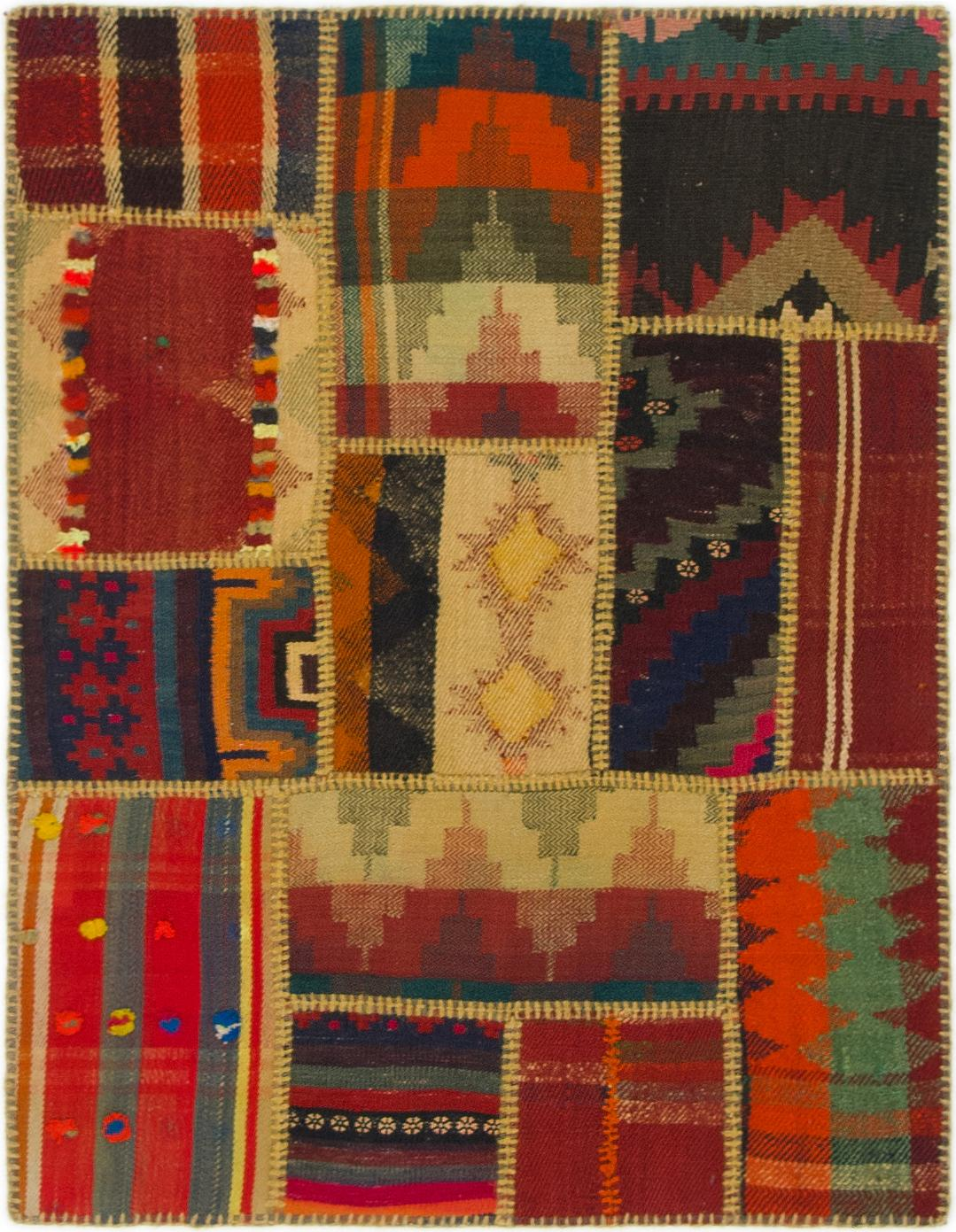 Multicolor 2 9 X 3 7 Kilim Patchwork Persian Rug