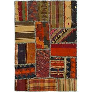Unique Loom 2' 10 x 4' 2 Kilim Patchwork Rug