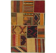 Link to 2' 8 x 4' Kilim Patchwork Rug