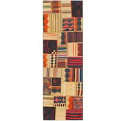 Link to 2' 9 x 8' 6 Kilim Patchwork Runner Rug