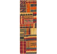 Link to 2' 6 x 8' 4 Kilim Patchwork Runner Rug