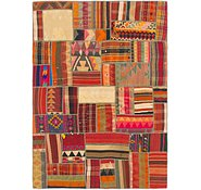 Link to 5' 10 x 8' 2 Kilim Patchwork Rug