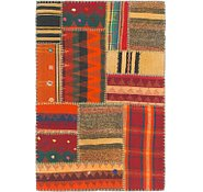Link to 2' 10 x 4' 3 Kilim Patchwork Rug