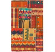 Link to 2' 7 x 4' 3 Kilim Patchwork Rug