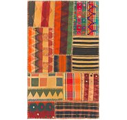 Link to 2' 7 x 4' 2 Kilim Patchwork Rug