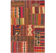 Link to 4' 2 x 6' Kilim Patchwork Rug
