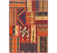 Link to 2' 10 x 4' Kilim Patchwork Rug