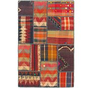 Link to 2' 8 x 4' 2 Kilim Patchwork Rug