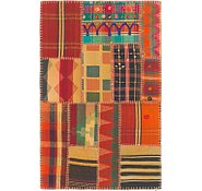 Link to 2' 8 x 4' 3 Kilim Patchwork Rug