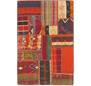 Link to 2' 10 x 4' 5 Kilim Patchwork Rug