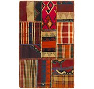 Link to 2' 5 x 3' 10 Kilim Patchwork Rug
