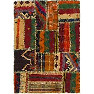 Unique Loom 3' x 4' Kilim Patchwork Rug