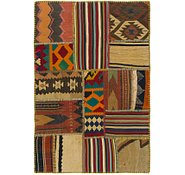 Link to 2' 9 x 4' Kilim Patchwork Rug