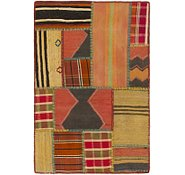 Link to 2' 7 x 4' Kilim Patchwork Rug