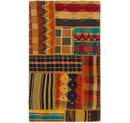 Link to 2' 7 x 4' 5 Kilim Patchwork Rug
