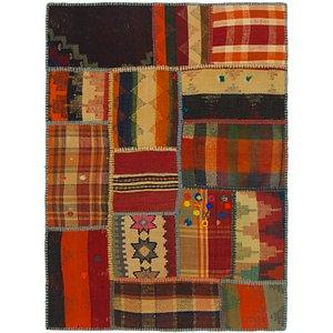 Unique Loom 2' 10 x 4' Kilim Patchwork Rug