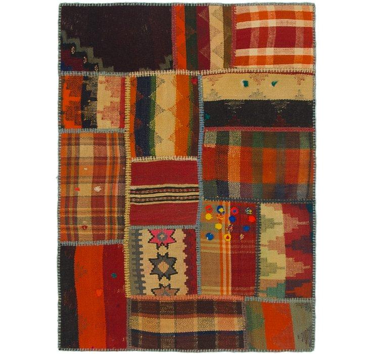 2' 10 x 4' Kilim Patchwork Rug